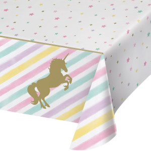 Sparkling Unicorn Plastic Tablecover