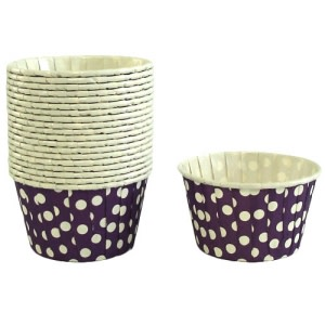 Violet Polka Dot Cupcake Holder (20)