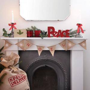 Vintage Noel - Noel Hessian Bunting