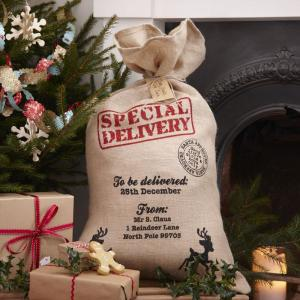 Vintage Noel - Hessian Santa Sack