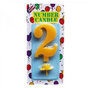 Yellow Number Candle 2