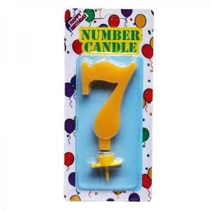 Yellow Number Candle 7