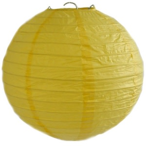 Yellow Wired Lantern (20cm)