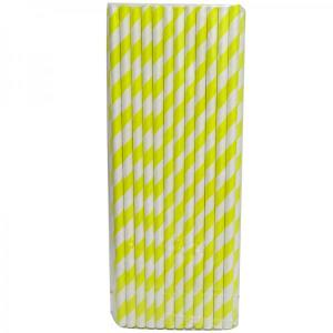Yellow Party Straws (25)