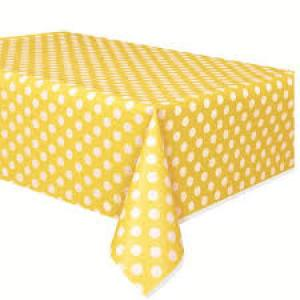 Yellow Dotted Table Cover