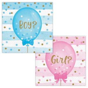 Gender Reveal Napkins (16) 2ply