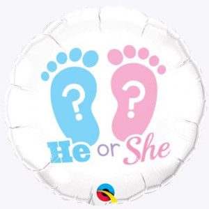 He or She Foil Balloon 18 inch