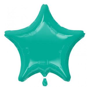 Caribean Blue Star Foil Balloon