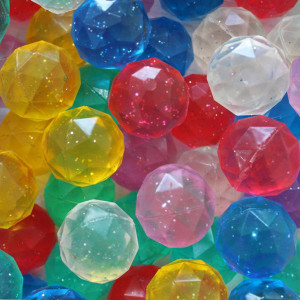 Diamond Glitter Bouncing Balls (4pc)