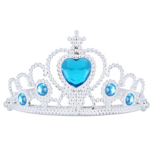 Frozen Tiara Silver with Blue Heart Gem