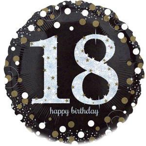 Sparkling Happy 18th Birthday Balloon