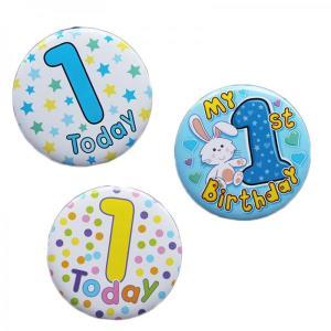 Happy 1st Birthday Badge Boy Design