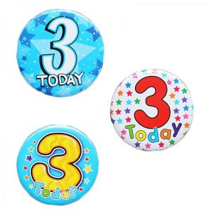 Happy 3rd Birthday Badge Boy Design