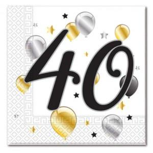 Age 40 Birthday Balloon Napkins (20)