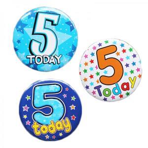 Happy 5th Birthday Badge Boy Design