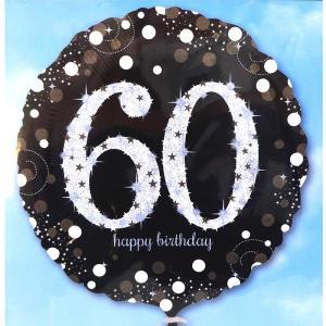Sparkling Happy 60th Birthday Balloon