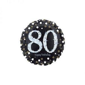 Sparkling Happy 80th Birthday Balloon