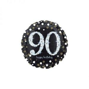 Sparkling Happy 90th Birthday Balloon