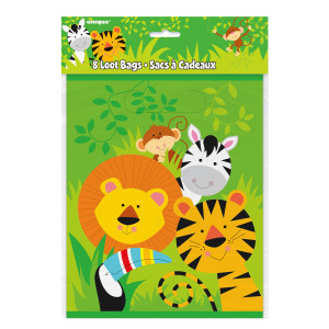 Animal Jungle Plastic Party Bags (8)