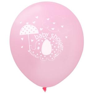 Pink Umbrellaphants Balloons (8)