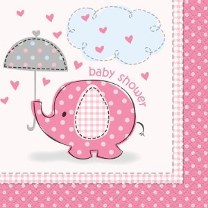 Pink Umbrellaphants Lunch Napkins (16)