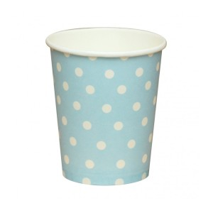 Light Blue Dotted Paper Cups (10)