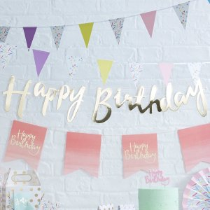Pick & Mix Happy Birthday Foiled Backdrop