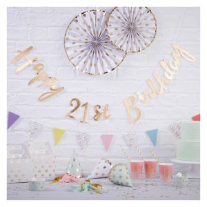 Pick & Mix Happy 21st Birthday Foiled Backdrop