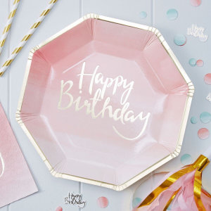 Pick & Mix Ombre Paper Plates (8)