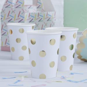 Pick & Mix Polka Dot Paper Cups (8)