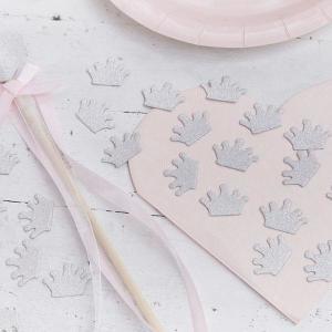 Princess Perfection Silver Crown Confetti