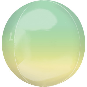 Ombre Orb Balloon Yellow And Green