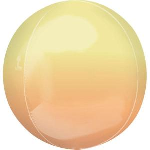 Ombre Orb Balloon Yellow And Orange