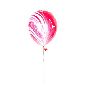 Red and White Marble Balloon (1)