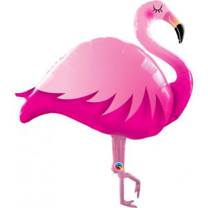 Smiling Flamingo Supershape Foil Balloon