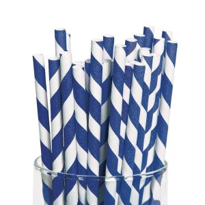 Royal Blue Party Straws (25)