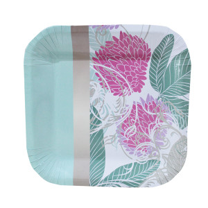 Fynbos Design Square Lunch Plates (10)