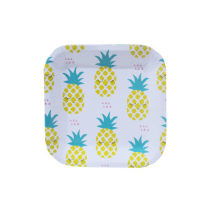 Pineapple Square Dessert Plates (10)