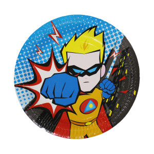 Little POW Superhero Paper Plates (6)