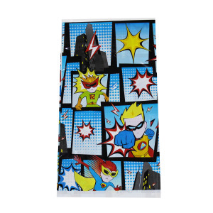 Little POW Superhero Plastic Tablecover