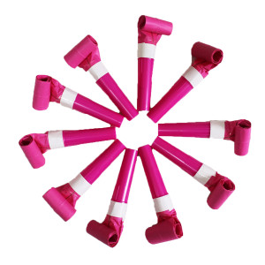 Magenta Paper Blow Outs (6)