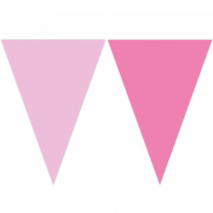 Plastic Flag Bunting Pink Shades