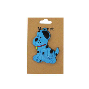 Cute Blue Dog Magnet
