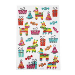 Mexican Fiesta Glitter Stickers