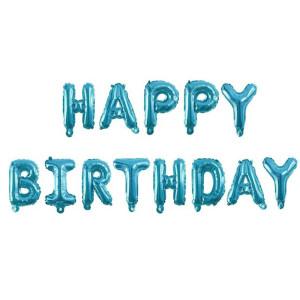 Happy Birthday Blue Balloon Kit