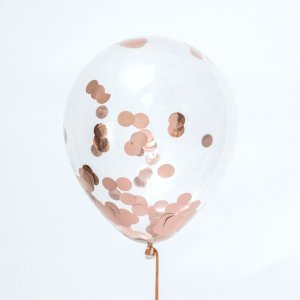 Rose Gold Confetti 18 Inch Balloon