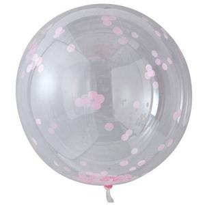 PVC Balloon with Light Pink Confetti