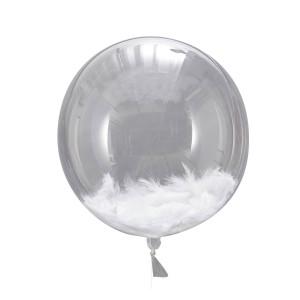 PVC Balloon with White Feathers