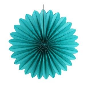 Turquoise Decorative Paper Fan (30cm)