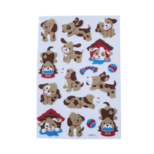 Puffy Puppy Stickers